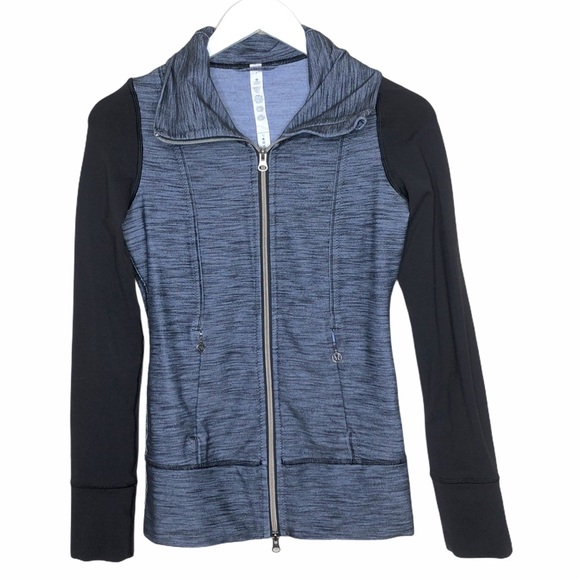 lululemon athletica Jackets & Blazers - Lululemon Daily Yoga Jacket denim polar haze/black